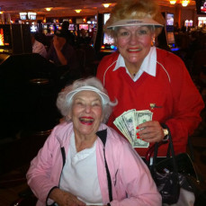 we had a fun time at the casino in palm springs while staying at palm desert!  Jeanne or Jeannie always won money! - Patty McCaffrey