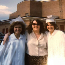 Dear friend Patti, with Joyce McMullen and myself, at East Brunswick High School Graduation, in 1980. Thanks for the memories, dear friend. - Sharon Cramer