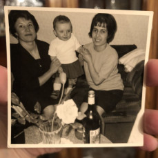 My Godmother, with my mom and I over 50 years ago.   - Mrs Maria Montalvo