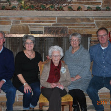 Phyliss, 90th Birthday, with her children, Jane, Barb, Al and Eugene - Duly Zwiefel