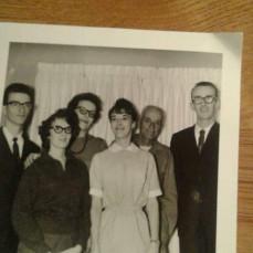 All the Cline kids with Grandpa Joe - Diane (Schlette) Williams