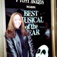 Rose enjoying one of her visits to see a Broadway musical. - Luis S