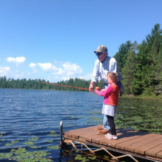 Uncle Bill introduces the next generation to fishing at his cabin on Rudolph Lake. - Penny Putnam Richert