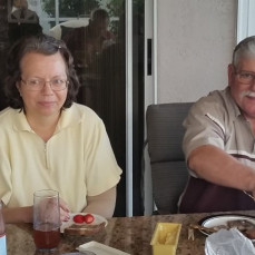 Feb. 2018 vacation in Florida. Judy and Mark Lewis enjoying time together. - Storm
