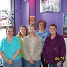 Judy's bowling team  - Judy Pruka