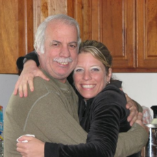 Uncle Billy and my sister Kristen - Karen