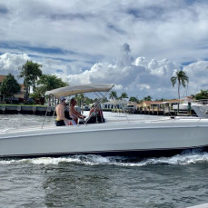 Caught this photo of Eric cruising along the ICW in his Scarab first weekend of March...after he had just hosted a Florida Powerboat Club afternoon BBQ party at his Key Largo home the weekend earlier. I can't find to words to express this loss for all of us.. Such an energetic, spirited and friendly person...he was a role model for so many of us including myself! So sad to see you leave us Eric, We will miss you dearly!   - Stu Jones, Florida