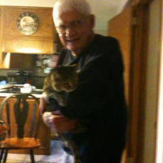 Our Dad and his kitty Holly - Liv Davick