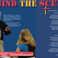 I taught with Bill from 1987 until his retirement in 2013. This was a spread from Iowa Wesleyan's literary magazine, Design. He was instrumental in this publication. This was from the 60th anniversary edition and it honored Bill and others who worked