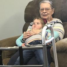Great Grandma Sharon holding Amelia - Marcia Kenne