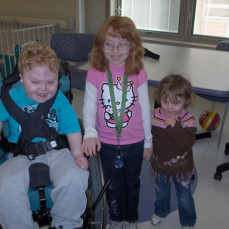 Hunter with his sisters Madison and Caelen about 7 years ago. - Phil Mather