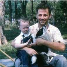 Young Richard Siebring and nephew - Chuck Cross