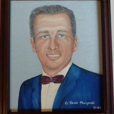 Portrait painted by one of his students - Chuck Cross