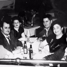 Aunt Irene, Uncle Mike, my mom Theresa, my dad Danny, Aunt Gloria, Uncle Al at the Bowery in Detroit many years ago - janet gottardo