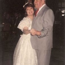 """Dancing with her Dad, LaVern Cook """"Cookie,"""" at our wedding. 1990 - Mark Smith"""
