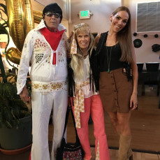 At Anthony's 50th birthday party (October 2018). - Rebecca Houser