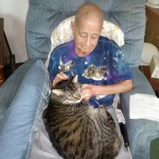 The last picture I took of Jody before her passing with Murphy sitting on her lap - Dorothy Parker