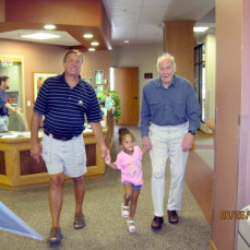 Great Grand-Pa with his first Great Grand Child Adelyn (June 2010) - John Jendrzejewski