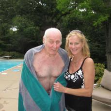 Chris' recent visit with her Dad. - John Jendrzejewski
