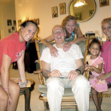 With daughter Christine, Grand-Kids Kelsey (left), Christy (right) and Grand-Kid Adelyn (smallest one), (June 2010) - John Jendrzejewski