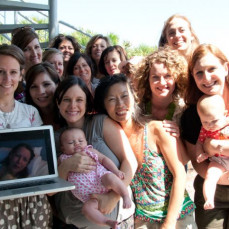 Sara couldn't come to the beach with the (in)girls, so we brought the beach to her. Thank you Skype! - Jessica Turner